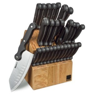 Ronco 30Piece Knife Set andブロック、ブラック