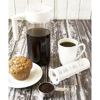 Cold Brew Coffee Maker Set - 3 In One Cold Brewed Coffee Maker - Includes 44 Ounce Glass Pitcher, 8...