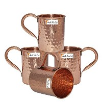 Set of 4 – PrishaインドCraft ® Copper Mug for Moscowミュール500 ml / 16.90 Oz – 100 % Pure Copper –...