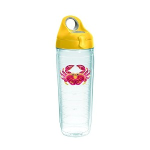 Tervis 1254362 Sun & Surf Water Bottle with Lid、24オンス、クリア
