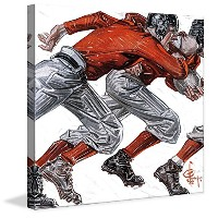 """Marmont Hill vintage-sports ' Football Players 'キャンバス壁アート 24"""" x 24"""" MH-SEPSP-11-C-24"""