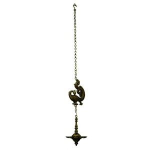 Pure Brass Metal Peacock Hanging Diya in Fine Finishing Handicraft and Decorative art by Bharat...