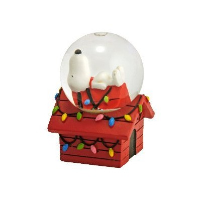 Peanuts Snoopy on Doghouse Mini Christmas Snowglobe by Westland