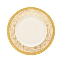 Lenox LowellゴールドBandedアイボリー中国5-piece Place Setting Accent Plate ゴールド 6134746