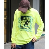 360 SPORTS WEAR / BACK IN THE DAY プリントロングスリーブTシャツ【ジャーナルスタンダード/JOURNAL STANDARD メンズ Tシャツ・カットソー イエロー...