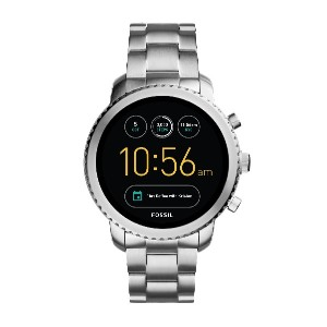 メンズ FOSSIL Q  Q Explorist Touchscreen Smartwatch スマートウォッチ シルバー
