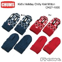 CHUMS チャムス CH27-1000 Kid's Holiday Chilly Knit Mitton キッズホリデイチリーニットミトン ※取り寄せ品