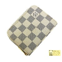 LOUIS VUITTON コインケース ジッピーコインパース ダミエ アズール【中古】[jw]