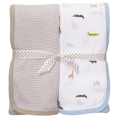 Carter's 2-pk. Blue, Grey & Green Swaddle Blankets BLUE/MULTI One Sz by Carter's