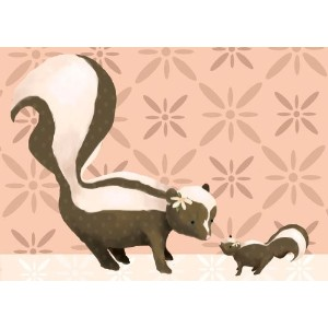 Oopsy daisy Sweet Skunks Canvas Wall Art by Meghann O'Hara, 14 by 10-Inch by Oopsy Daisy