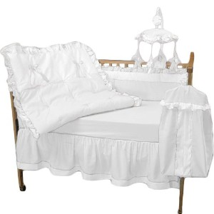 Baby Doll Bedding Regal Crib Bedding Set, White by BabyDoll Bedding