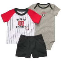 Carter's Infant Boys 3pc Set Daddy's Rookie (Newborn) by Carter's