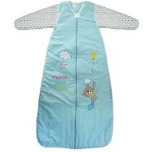 The Dreamバッグ子供のSleepingバッグLong Sleeved旅行Moon and Back 2.5Tog カラー: ブルー