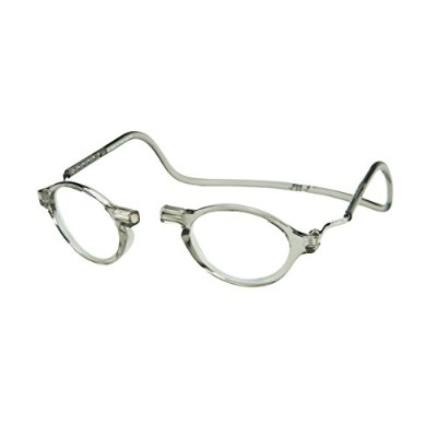 CliC Magnetic Classic Reading Glasses, Smoke, +1.25 by CliC