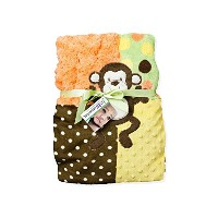 Baby Essentials Plush Blanket Multi Color Monkey by Baby Essentials