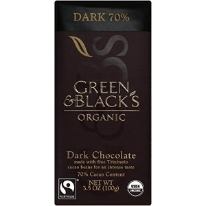 Green & Black's Organic Dark Chocolate, 70% Cacoa, 3.5 Ounce Bars (Pack of 10) by Green & Black's...