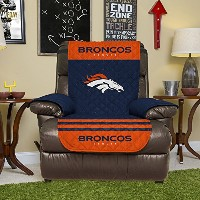 """NFLリクライニングリバーシブル家具プロテクター伸縮性ストラップ、80-inches by 65-inches 80"""" x 65"""" NFLBRONCOS-4R"""