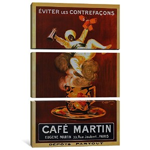 iCanvasART 3 Piece Cafe Martin ' Vintage 'キャンバスアートプリントby Leonetto Cappiello、0.75 X 40 X 60-inch