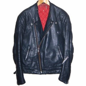 LEWIS LEATHERS Monza 70s VINTAGE LEATHER JACKET NAVY ルイスレザー モンザ レザージャケット ライダース ネイビー 革ジャン(皮ジャン)【中古】...