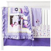 Circo Love N' Lilacs 4pc Baby Girl Crib Bedding Set by Circo