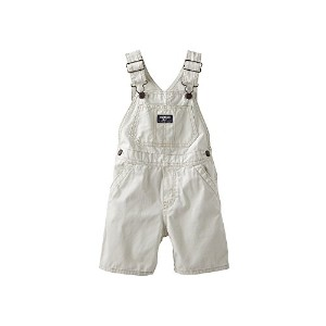 Osh Kosh Baby Boys' Twill Shortall (Tan, 9 months) by OshKosh B'Gosh