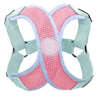 Gooby Choke Free Perfect Fit X Harness for Small Dogs, Small, Pink by Gooby
