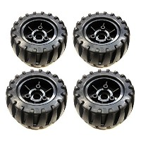 113mm x 63mm Off Road Rubber on Nylon ウィール 4個Set