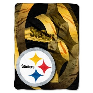 "NFL Pittsburgh SteelersベベルMicro Raschel Throw、60 "" x 80 """