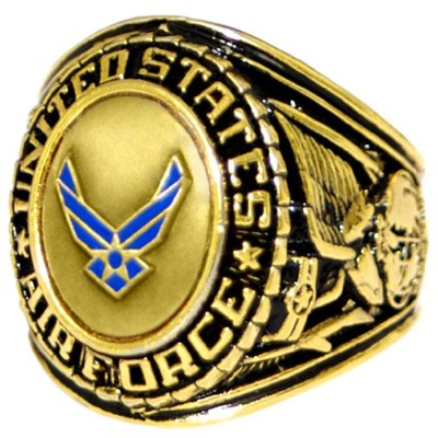 US Air Force Insigniaリング – ブロンズ色付きAir Force Veteranリング – Military Collectibles