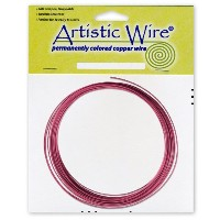 Artistic Wire 16-Gauge Burgundy Coil Wire, 25-Feet by Beadalon