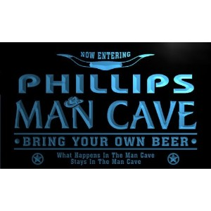 ネオンプレート サイン 電飾 看板 バー pb1045-b Phillips Man Cave Cowboys Bar Neon Light Sign