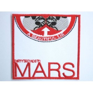 30 SECONDS TO MARS Band Embroidered Iron On Patch 2.97.4cm x 2.9/7.4cm By MNC Shop by MNC Patch