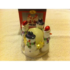 Treasured Times Holidayコレクション手塗り磁器Tealight Holder Candle含ま