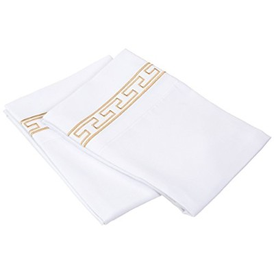 LUXOR TREASURES Super Soft Light Weight, 100% Brushed Microfiber Pillowcases, Standard, Wrinkle...