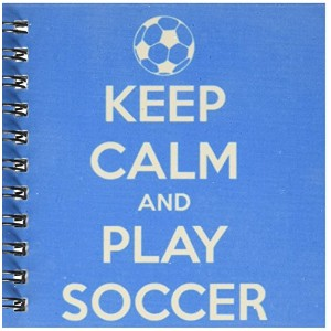 """EvaDane–引用–Keep Clam And Playサッカー、ブルー–Drawing Book 4 by 4"""" db_159643_3"""