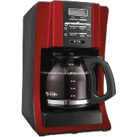 12-Cup Programmable Settings Programmable Coffee Maker, Red by Mr. Coffee