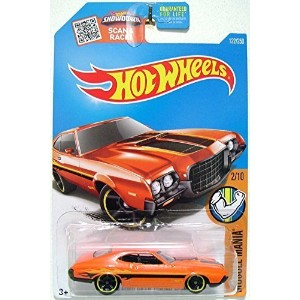 【送料無料】【Hot Wheels - '72 Ford Gran Torino Sport (Orange w/Yellow Stripes) - Muscle Mania Ford 12 - 7...