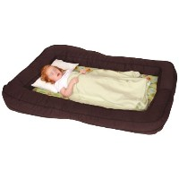Leachco BumpZZZ Travel Bed, Brown/Green Forest Frolics by Leachco