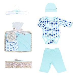 Tadpoles Mod Zoo Layette Gift Set, Hippo/Blue, 0-6 Months by Tadpoles