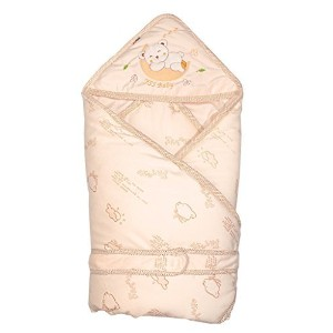 Beige Minies Baby Wrap, Swaddle, Blanket, Soft Organic Cotton, Best Baby Shower Gift for Boys,...