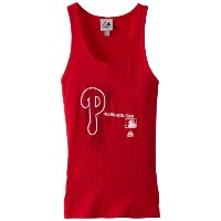 Philadelphia Phillies Womens Majestic AC Change Upレッドタンクトップシャツ S レッド