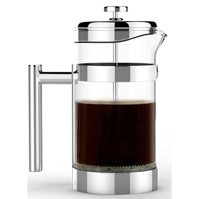 #1 Rated Sovrano Int'l French Press - Vero Coffee and Tea Press - 8 Cup/4 Mug (1 liter, 34 oz) -...