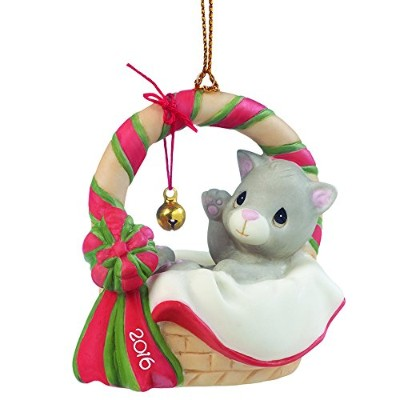 Precious Moments、クリスマスギフト、Meowieクリスマス、Dated 2016、Bisque Porcelain Ornament , # 161009by Precious...