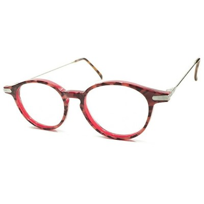 MODERN COLOR デッドストック 1980s フランス製 MADE IN FRANCE レイヤード AMBER×RED CLEAR×SILVER メタル コンビネーション ボストン...