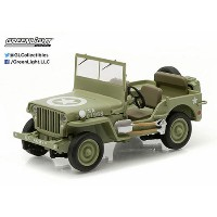 1/43 GreenLight Exclusives - 1944 Jeep C7 (Army Green, star on hood)(再販)[グリーンライト]《取り寄せ※暫定》