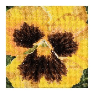 Thea Gouverneur クロスステッチ刺繍キットNo.458 「Pansy」(パンジー 花) オランダ テア・グーヴェルヌール 【取り寄せ/納期40~80日程度】