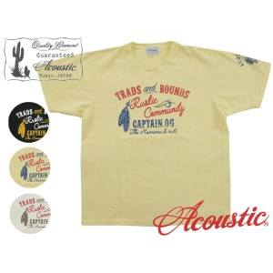 Acoustic アコースティック 半袖TシャツTRADS AND BOUNDS AC7212