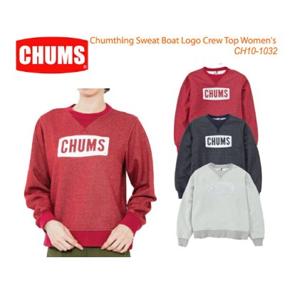 CHUMS チャムス CH10-1032 Chumthing Sweat Boat Logo Crew Top Women's チャムシングスウェットボートロゴクルートップ  ※取り寄せ品