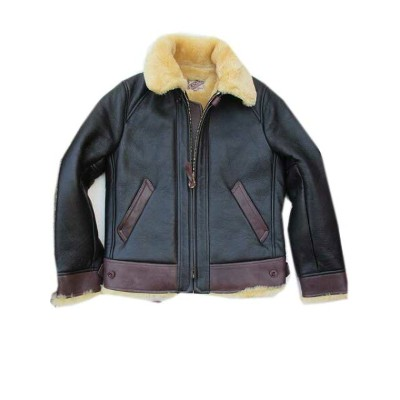 Y'2LEATHERワイツーレザーサイズ44 COLOMAR MOUTON MOTORCYCLE JKT d.brown コロメールムートン×エコホース