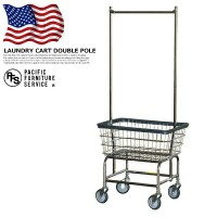 【P10倍】収納 ランドリーカートダブルポール LAUNDRY CART DOUBLE POLE RB1058CH パシフィックファニチャーサービス PACIFIC FURNITURE...